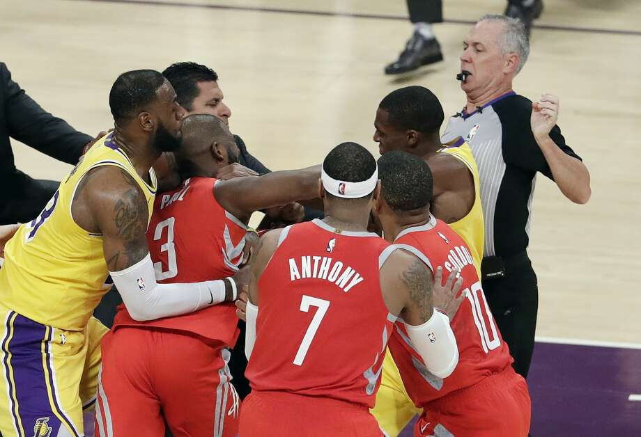 f8c72a688aa PHOTOS  A look at the fight between Chris Paul and Rajon Rondo Houston  Rockets
