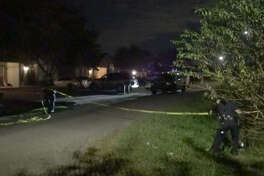 A man was wounded by shrapnel early Sunday in a Sunnyside drive-by shooting.