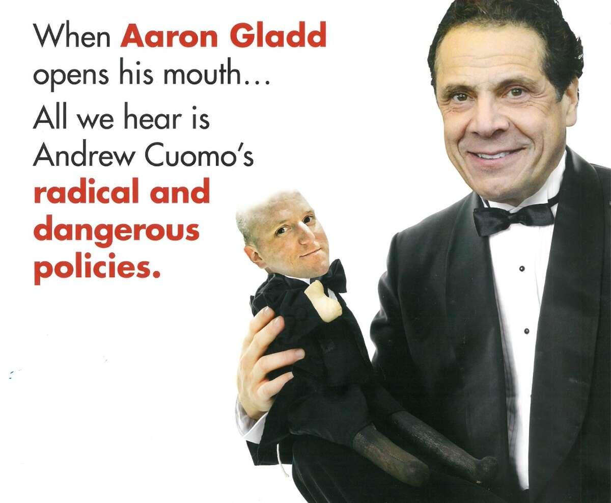 Democrat Aaron Gladd is portrayed as a