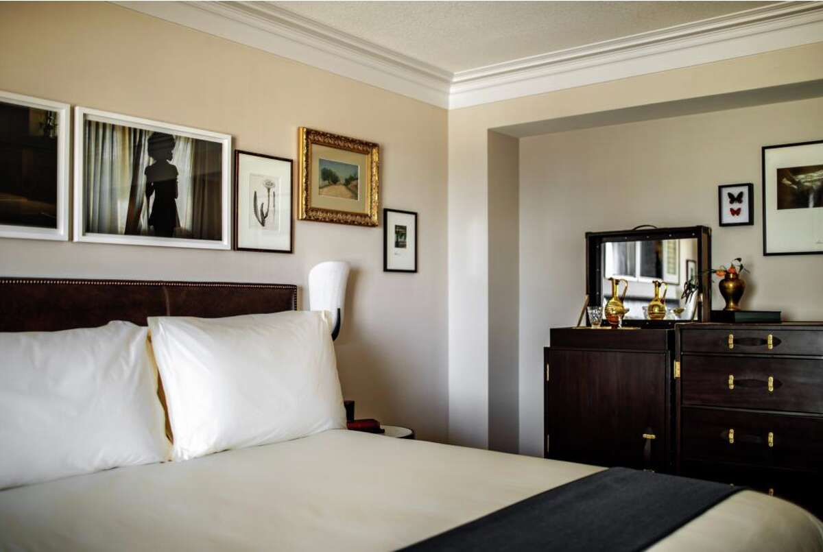 A classic king room at the new NoMad hotel in Las Vegas