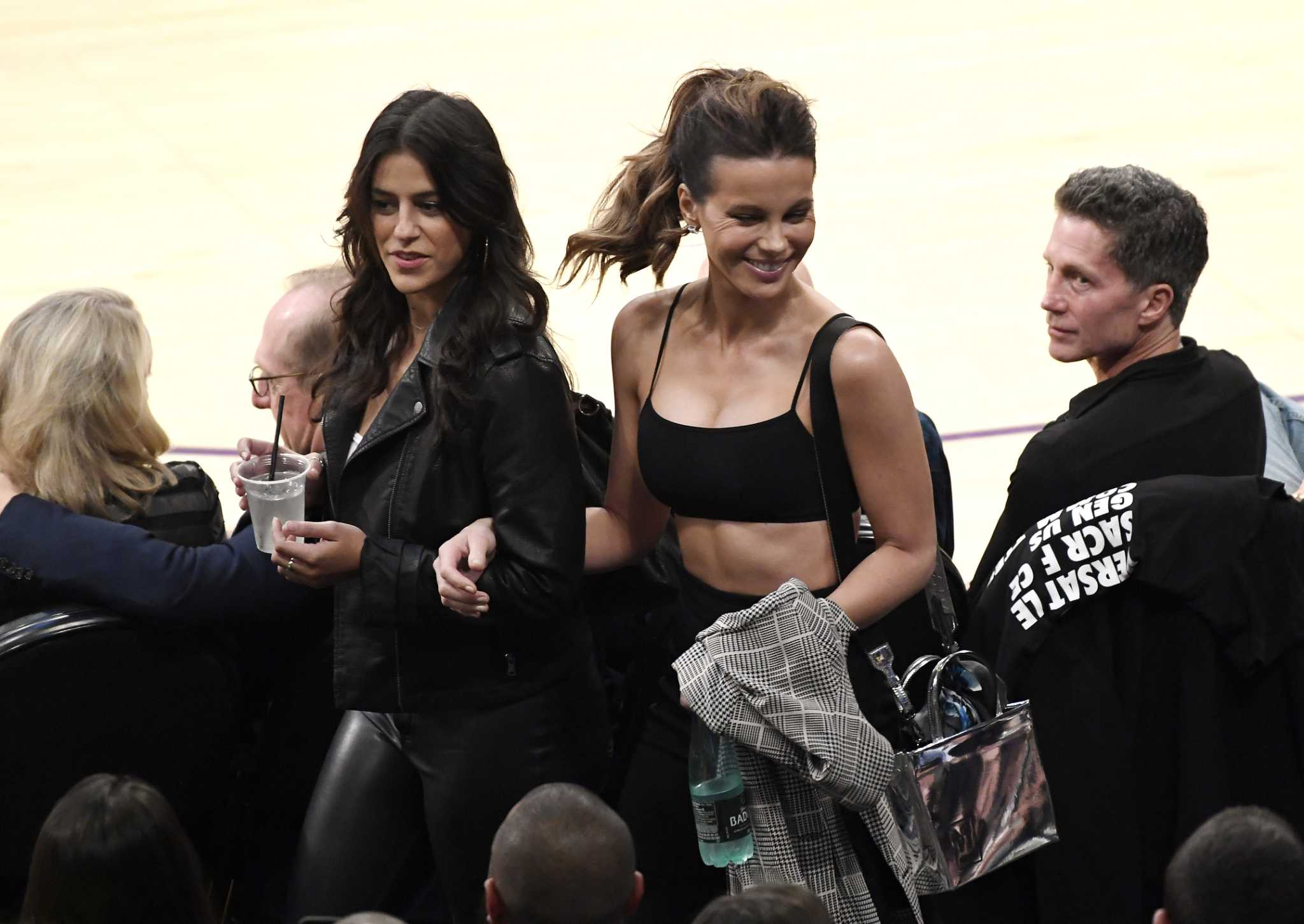 Celebrities fill courtside seats for Rockets-Lakers game ...Lakers Game