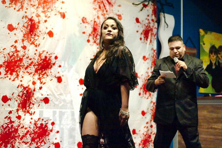 Galveston's first ever Vampire Pageant brought the Halloween spirit to the island Saturday night and raised funds for a center that helps domestic violence and sexual assault victims. Photo: Kirk Sides / Houston Chronicle