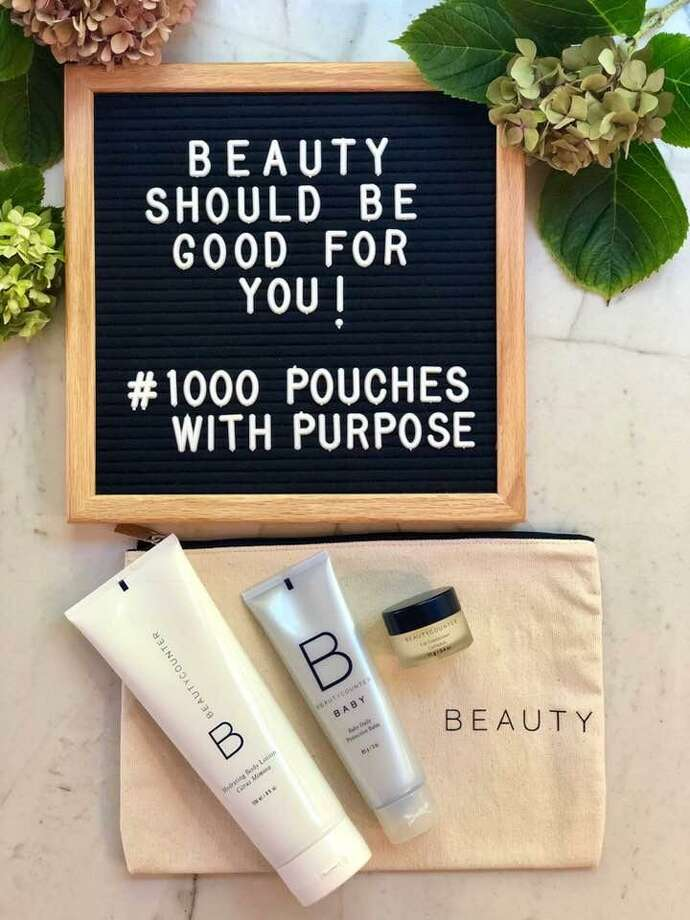 Two consultants from Beautycounter, a company that makes and promotes safe beauty products, will present 50 Pouches with a Purpose to the patients of the Norma Pfriem Breast Center, part of Smilow Cancer Hospital, at 1:30 p.m. Wednesday, OCt. 24, 2018. Photo: Contributed /Bridgeport Hospital