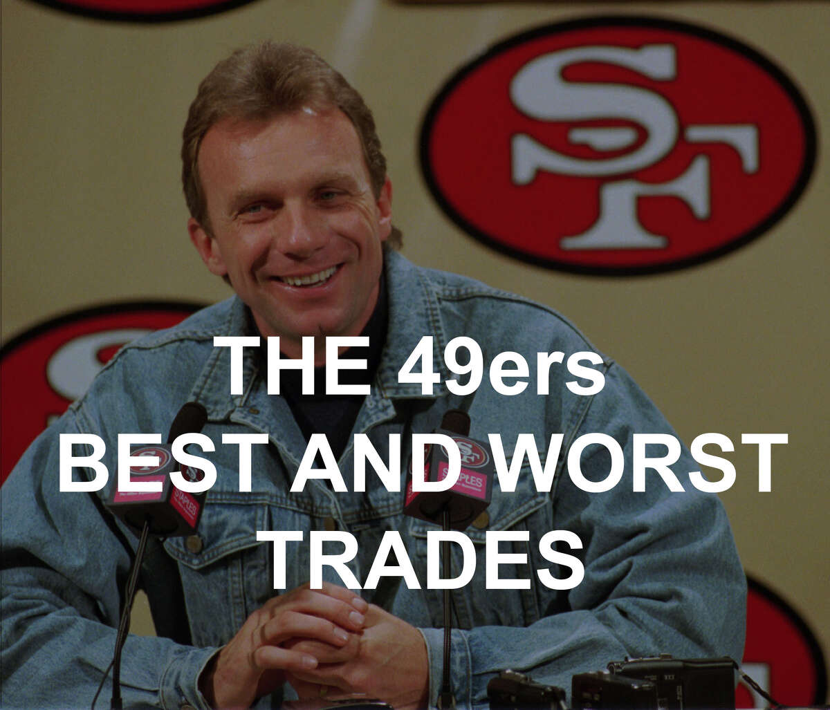 The 49ers best and worst trades include a Hollywood actor, Joe Montana and a guy named Simpson. Click through the gallery to see them all.