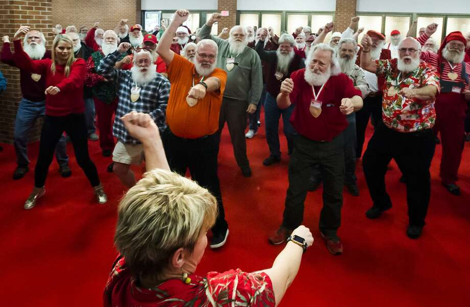 Participants in the 81st annual Charles W. Howard Santa Claus School take a dance lesson on Saturday, Oct. 20, 2018 at the Midland Center for the Arts. (Katy Kildee/kkildee@mdn.net) Photo: (Katy Kildee/kkildee@mdn.net)