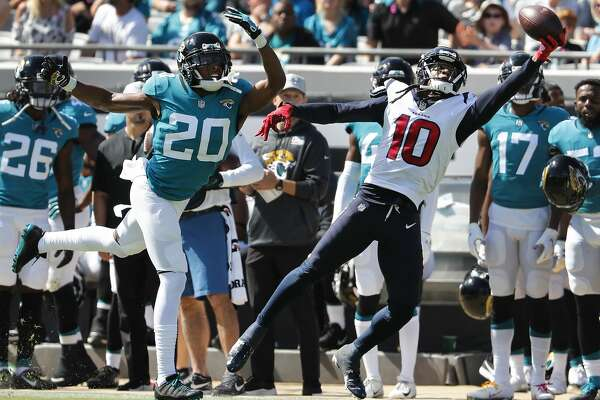 2of61Houston Texans wide receiver DeAndre Hopkins (10) beats Jacksonville  Jaguars cornerback Jalen Ramsey (20) with q one-handed catch for a first  down ... 42d73e760