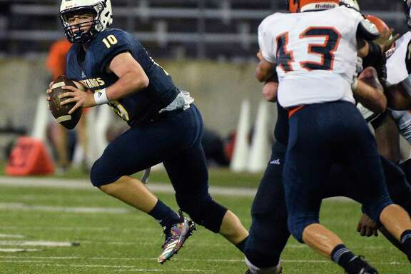 Cypress Ranch junior quarterback Logan McDougald (10) was selected as a District 14-6A first team all-district quarterback.