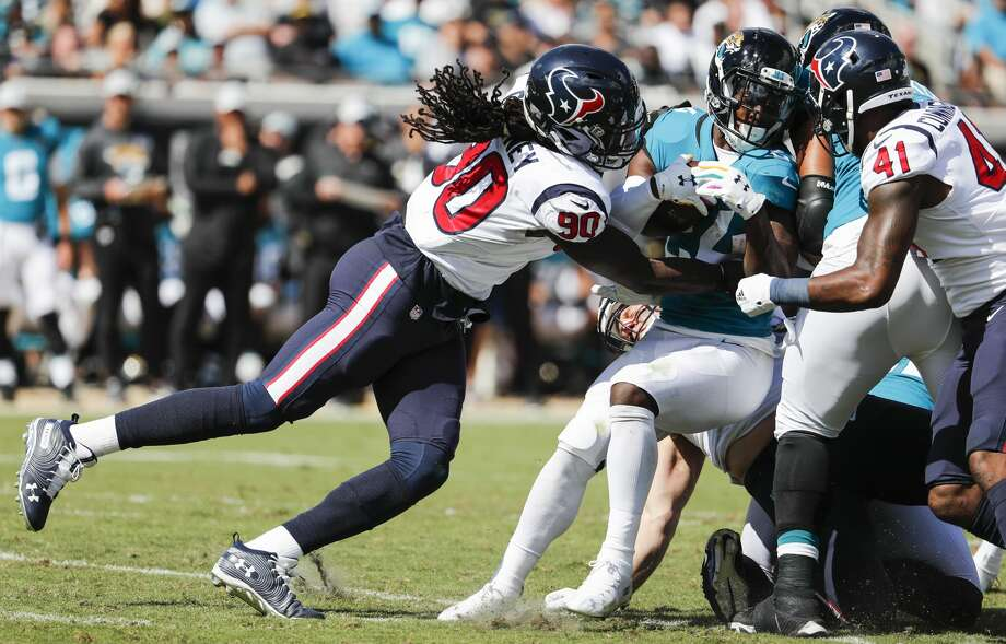 e6f6065e1 PHOTOS  Texans vs. Jaguars Houston Texans linebacker Jadeveon Clowney (90)  stops Jacksonville