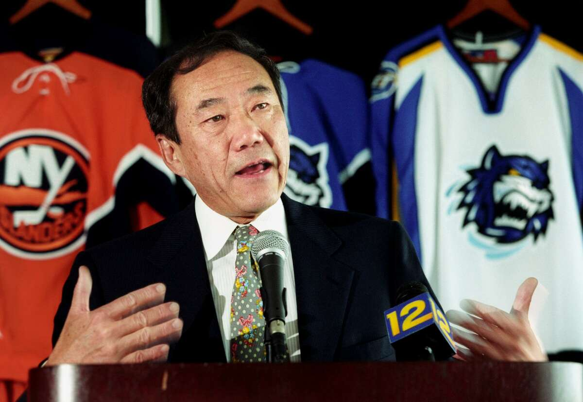 Charles Wang, co-owner of the Bridgeport Sound Tigers and New York Islanders, died Sunday at 74.