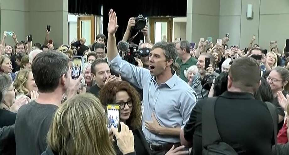 Democratic U.S. Sen. candidate Beto O'Rourke meets supporters Sunday at the Lone Star Convention and Expo Center. Photo: Montgomery County Police Reporter