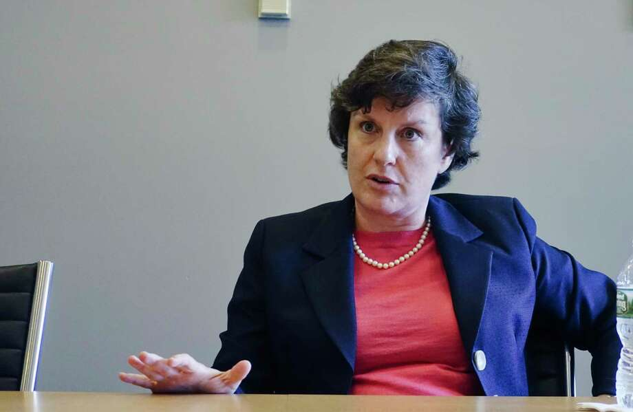 Former Syracuse mayor Stephanie Miner talks about running for governor during an interview at the Times Union on Thursday, Sept. 20, 2018, in Colonie, N.Y.  (Paul Buckowski/Times Union) Photo: Paul Buckowski / (Paul Buckowski/Times Union)