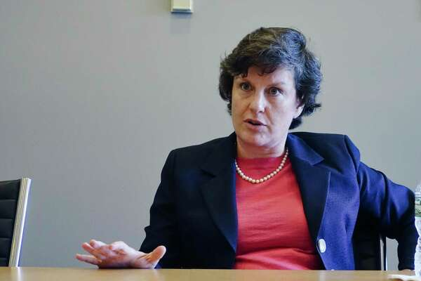 Former Syracuse mayor Stephanie Miner talks about running for governor during an interview at the Times Union on Thursday, Sept. 20, 2018, in Colonie, N.Y. (Paul Buckowski/Times Union)