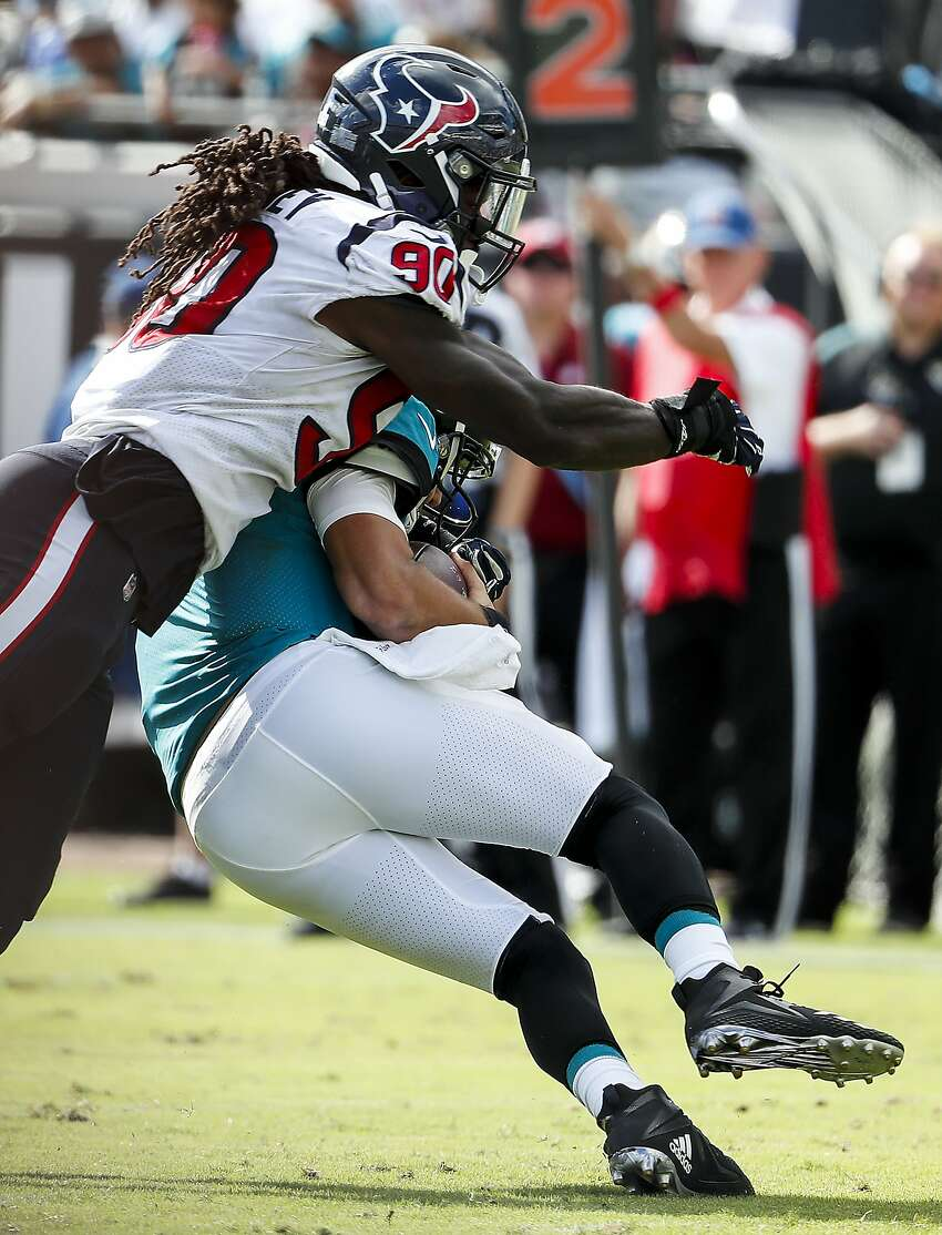5. JADEVEON CLOWNEY, DEFENSIVE END (HOUSTON TEXANS) CONTRACT SITUATION: Texans slapped Clowney with franchise tag for 2019 season, but he has yet to sign it; skipped the team's veteran minicamp.