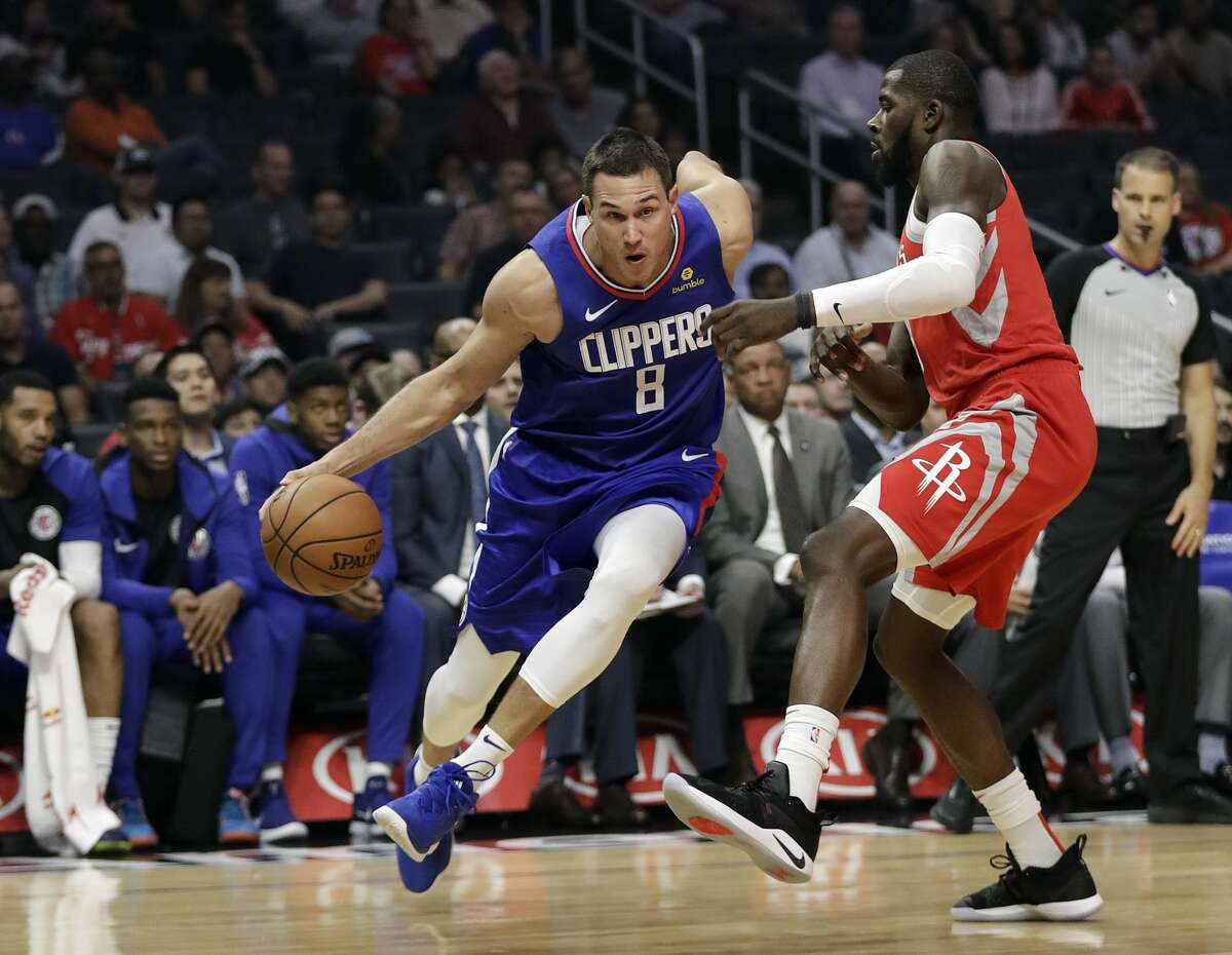PHOTOS: Rockets vs. Trail Blazers Los Angeles Clippers' Danilo Gallinari (8) is defended by Houston Rockets' James Ennis III during the first half of an NBA basketball game Sunday, Oct. 21, 2018, in Los Angeles. (AP Photo/Marcio Jose Sanchez) >>>See photos from the Rockets' game against the Trail Blazers ...