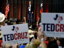 Fox News host Sean Hannity speaks during a campaign rally for Sen. Ted Cruz in a hangar at the Jack Brooks Regional Airport on Saturday. Cruz, a Republican, is running for re-election against Democratic Rep. Beto O'Rourke.  Photo taken Saturday 10/20/18 Ryan Pelham/The Enterprise