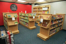 SIUE's new Cougar Cupboard food pantry.