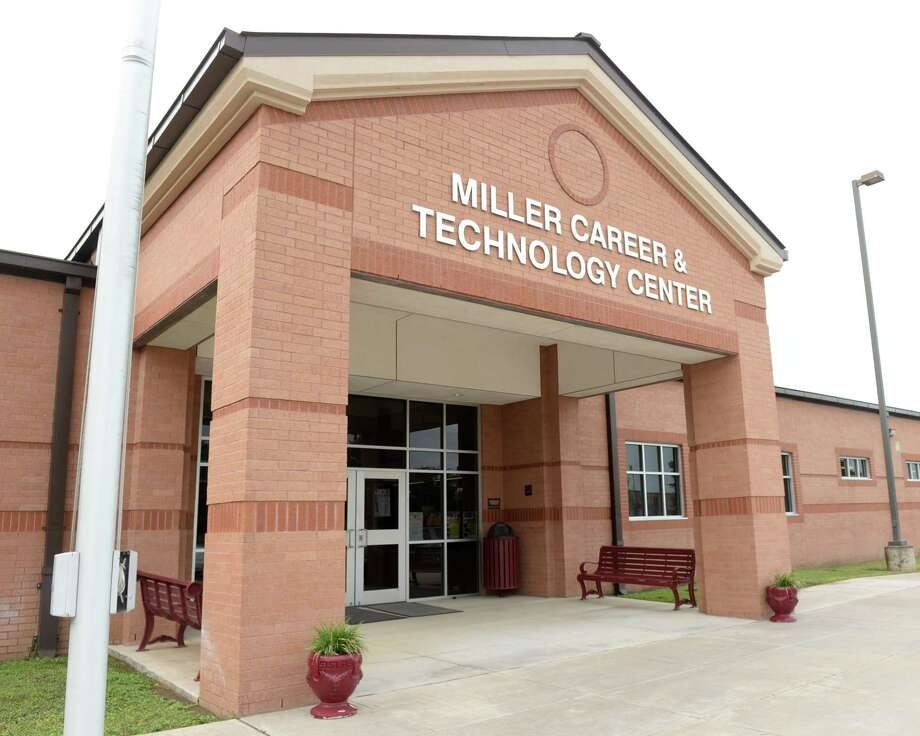 Entrance to Katy ISD's Miller Career & Technology Center in Katy on Friday, Oct. 19, 2018.>>>See more for the safest school districts in the Houston area.... Photo: Craig Moseley, Houston Chronicle / Staff Photographer / ©2018 Houston Chronicle