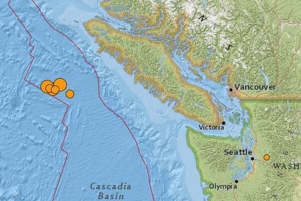 A series of significant quakes struck overnight off the coast of Vancouver Island in the Pacific ocean.
