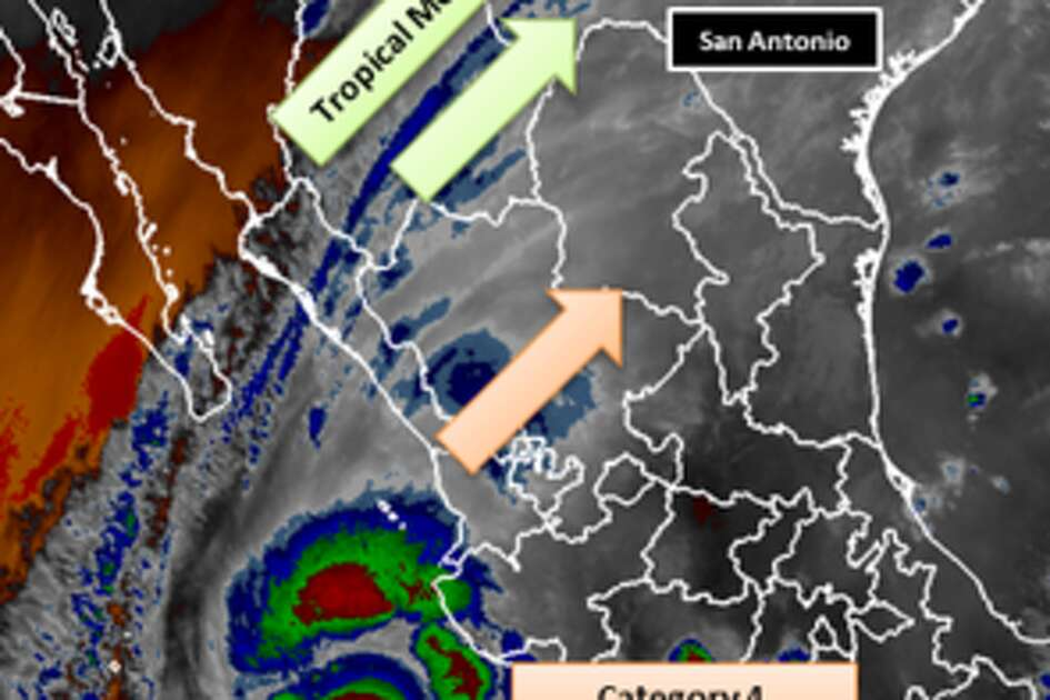 The National Weather Service is warning residents in South Central Texas of the possibility of renewed flooding this week as the remnants of a Pacific hurricane move through Mexico into Texas.