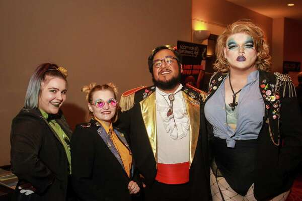 Fans at the Rocky Horror Picture Show event.