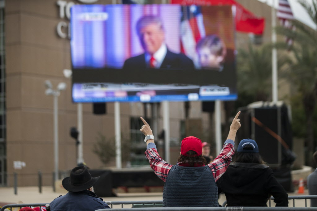 Outside Trump rally site a look back to a simpler time: Election night 2016