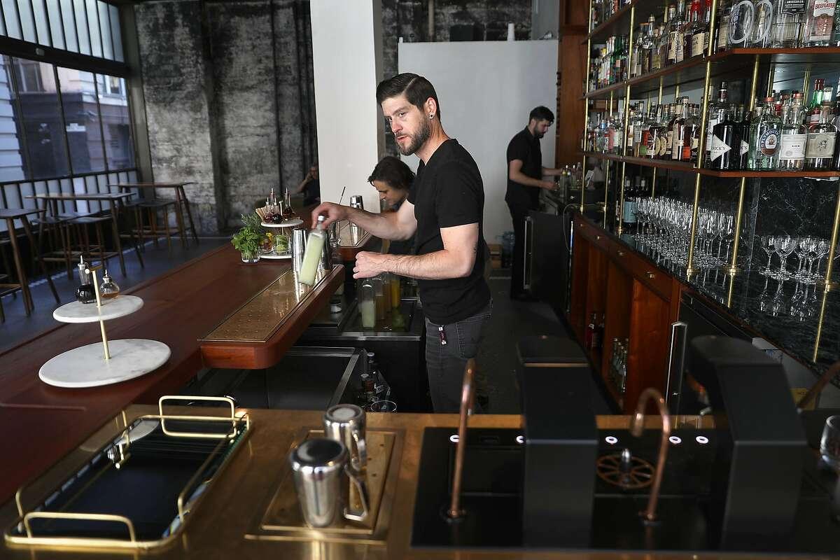 Bartender Ben Parlichek seen behind the bar at Cordial on Wednesday, Oct. 17, 2018, in San Francisco, Calif.