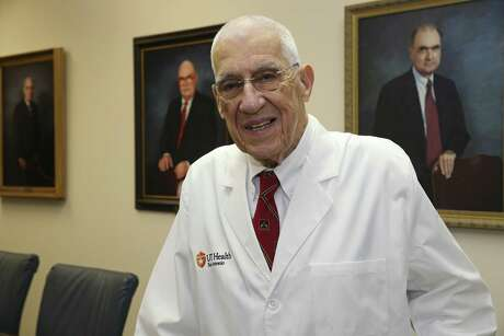Dr. Basil Pruitt, a retired U.S. Army colonel, poses at the University of Texas Health San Antonio, Thursday, Sept. 6, 2018. Dr. Pruitt led the U.S. Army Institute of Surgical Research at Fort Sam Houston for 27 years and helped pave the way for many of the life-saving therapies now in place for badly burned troops and civilians.