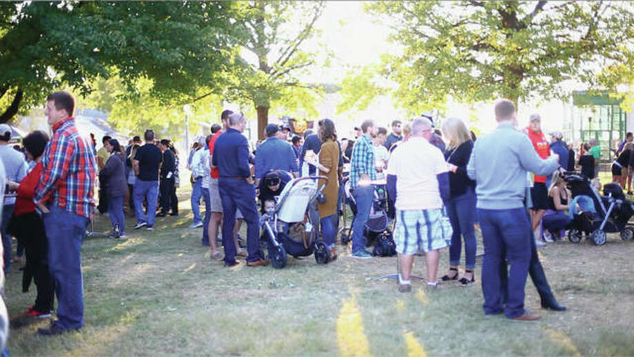 A view of Oktoberfest in Edwardsville City Park. Photo: For The Intelligencer