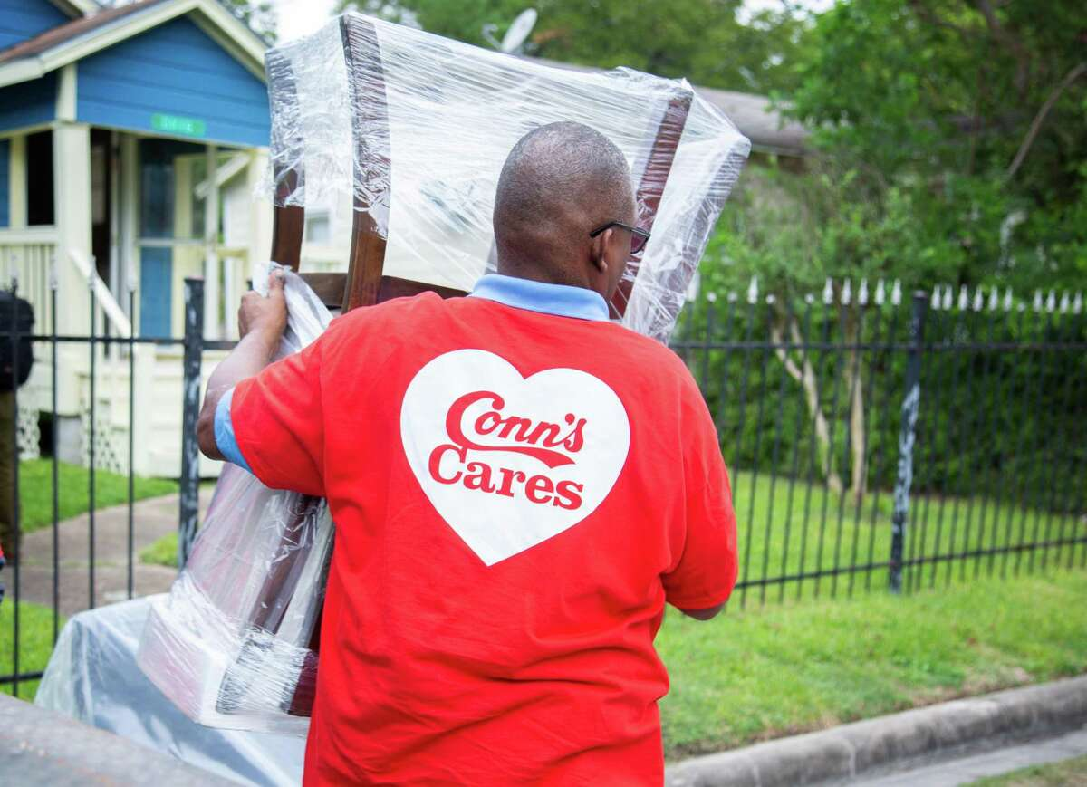 PHOTOS: Houston pre & post HarveyFurniture is unloaded from a truck and delivered at a home in Independence Heights on Thursday, Oct. 18. Conn's HomePlus donated $18,000 in furniture and appliances, partnering with Rebuilding Together Houston to help three families affected by Hurricane Harvey.>>>See more for photos of the city before and after the storm hit...