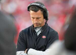 San Francisco 49ers head coach Kyle Shanahan stands on the sidelines during a game against the Los Angeles Rams in the fourth quarter on Sunday, Oct. 21, 2018 at Levi's Stadium in Santa Clara, Calif. (Nhat V. Meyer/Bay Area News Group/TNS)