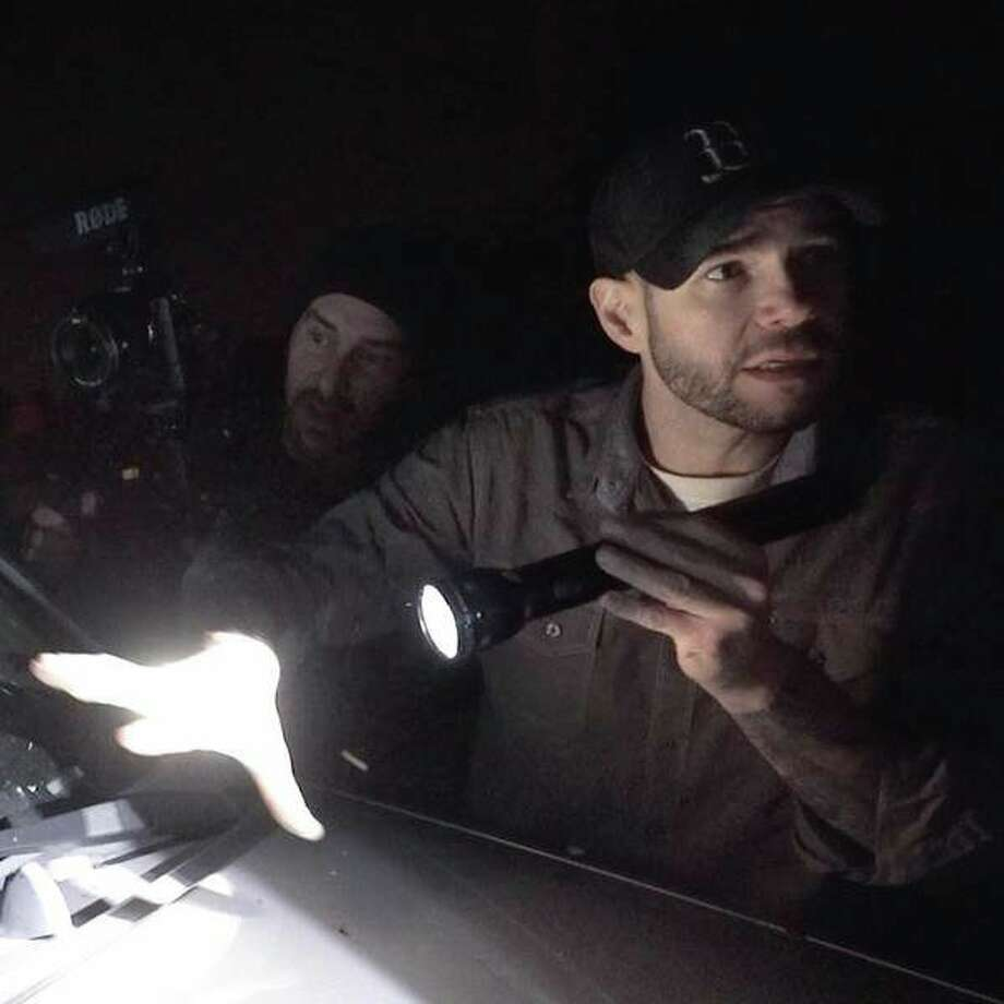 Steve Gonsalves of Syfy's 'Ghost Hunters' show joins an investigation at an Essexville home that Haunted Saginaw features in its new film, 'A Haunting on Finn Road: The Devils Grove.'  (Photo provided)