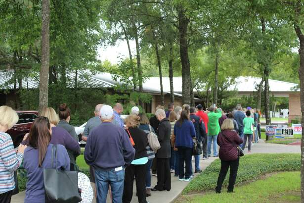 Hundreds of voters gathered at the South Montgomery County Community Center on Monday, Oct. 22, to be among the first to cast their votes in the midterm race.
