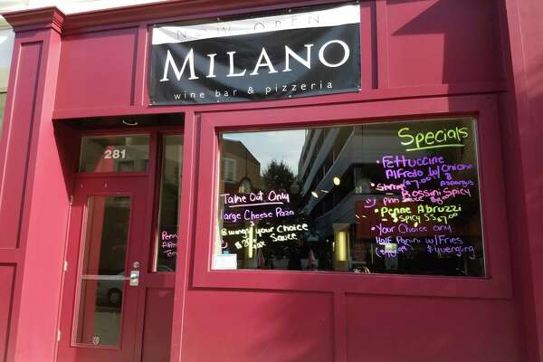 Milano Wine Bar & Pizzeria has opened in the former Two Boots space on Fairfield Avenue in Bridgeport. Pictured here on Aug. 25, 2016.
