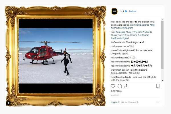The Rich Kids of Instagram don't mind spending a lot of money on traveling, by the looks of their social posts. A helicopter tour of this Icelandic glacier costs $850.