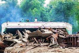 On Oct. 21, 2017, the historic and once-glamorous Goldenrod Showboat was completely destroyed by a suspicious fire while moored along the Illinois River north of Kampsville. Attempts to restore the landmark had been ongoing, but were doused in May when historic flooding overtook the 108-year-old vessel.