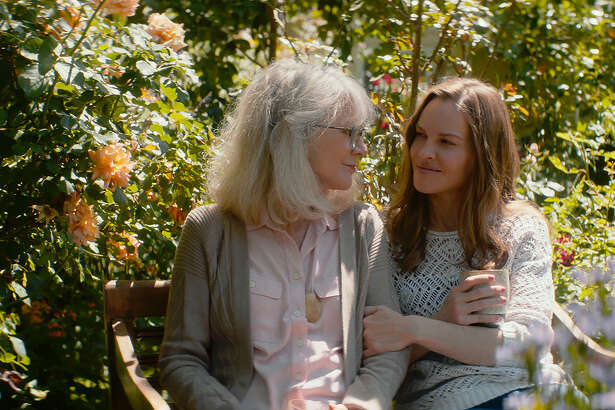 """Blythe Danner, left, is """"Ruth"""" and Hilary Swank is """"Bridget"""" in Elizabeth Chomko's """"What They Had."""""""