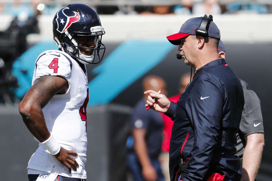 "A 24-hour round trip by bus to Jacksonville ""is what we had to do to help Deshaun (Watson) get to the game,"" Texans coach Bill O'Brien said."