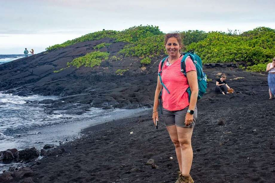 Patricia Tracey was one of two Rogers Park Middle School teachers to travel to Hawaii this summer with grants from The Fund for Teachers. Tracey is an eighth grade science teacher and studied volcano activity with geologists. Photo: Submitted Photo / Danbury Public Schools