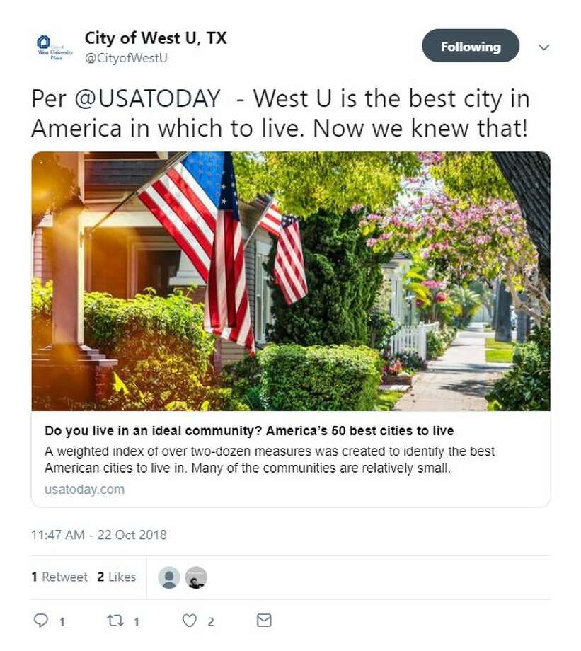 Best Historical Places To Live In The Us: West University Place Named America's Best City To Live