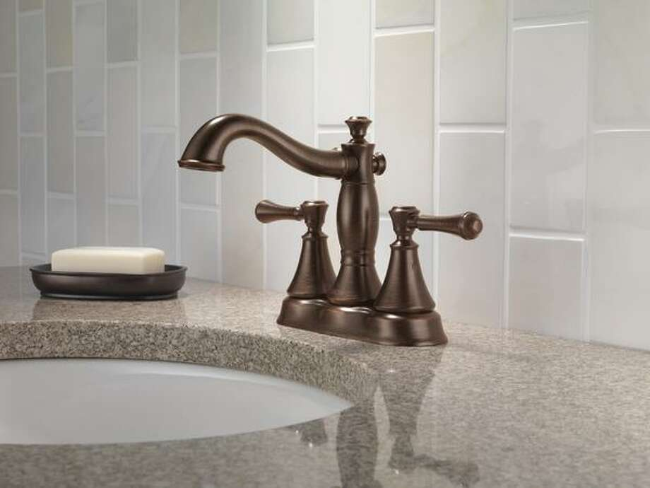 Meet the hot fixture color that many manufacturers are calling calling antique gold (or, in Delta Products' cases, Venetian Bronze). Soft, subtle and rich-looking, this is not your grandmothers '80s brushed brass. This fixture from Delta Products' Cassidy line costs $399.55. Photo: Delta Products / Delta Faucet Company
