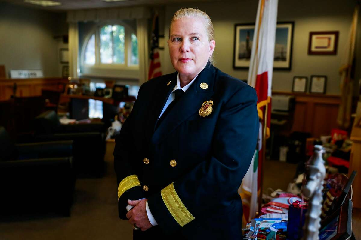 San Francisco Fire Chief Joanne Hayes-White stands for a portrait in her office in San Francisco, California, on Monday, Oct. 22, 2018.