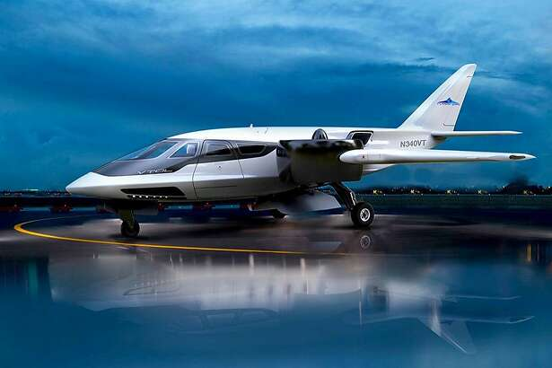 A rendering of the Trifan 600 vertical takeoff plane from XTI Aircrafts.