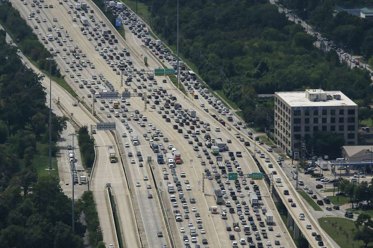 PHOTOS: Suburban traffic Traffic sits on Loop 610 near the Galleria on Sept. 5, 2017, as traffic returned following Hurricane Harvey and the flooding in Houston. The segment of Loop 610 from Interstate 10 to Interstate 69 is the most congested in Texas. >>Just how bad is traffic in the suburbs? Find out in the photos that follow...
