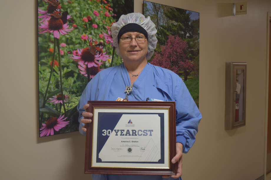 Katarina Shelton, with Covenant Health Plainview, was honored by the National Board of Surgical Technology and Surgical Assisting. Photo: Covenant Health Plainview/Courtesy Photo