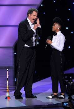 Will Ferrell, left, and Janelle Monae perform at the ESPY Awards on Wednesday, July 14, 2010 in Los Angeles. (AP Photos/Chris Pizzello) Photo: Chris Pizzello