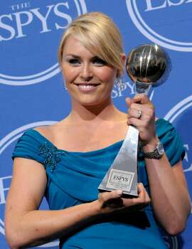 Lindsey Vonn poses with the award for Best Female Athlete in the press room at the ESPY Awards on Wednesday, July 14, 2010 in Los Angeles. (AP Photo/Dan Steinberg) Photo: Dan Steinberg