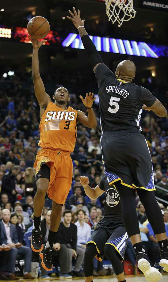 Brandon Knight, left, played parts of three seasons with the Suns before being traded to the Rockets during the offseason. Photo: Tony Avelar, Freelance / Special To The Chronicle / online_yes