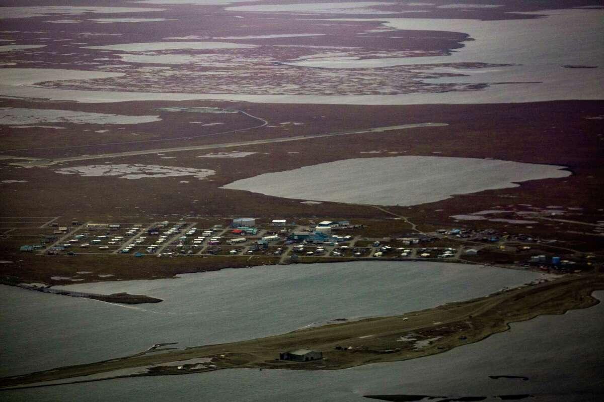 FILE-- The town of Kaktovik, Alaska, within the Arctic National Wildlife Refuge, Sept. 12, 2016. (Josh Haner/The New York Times)