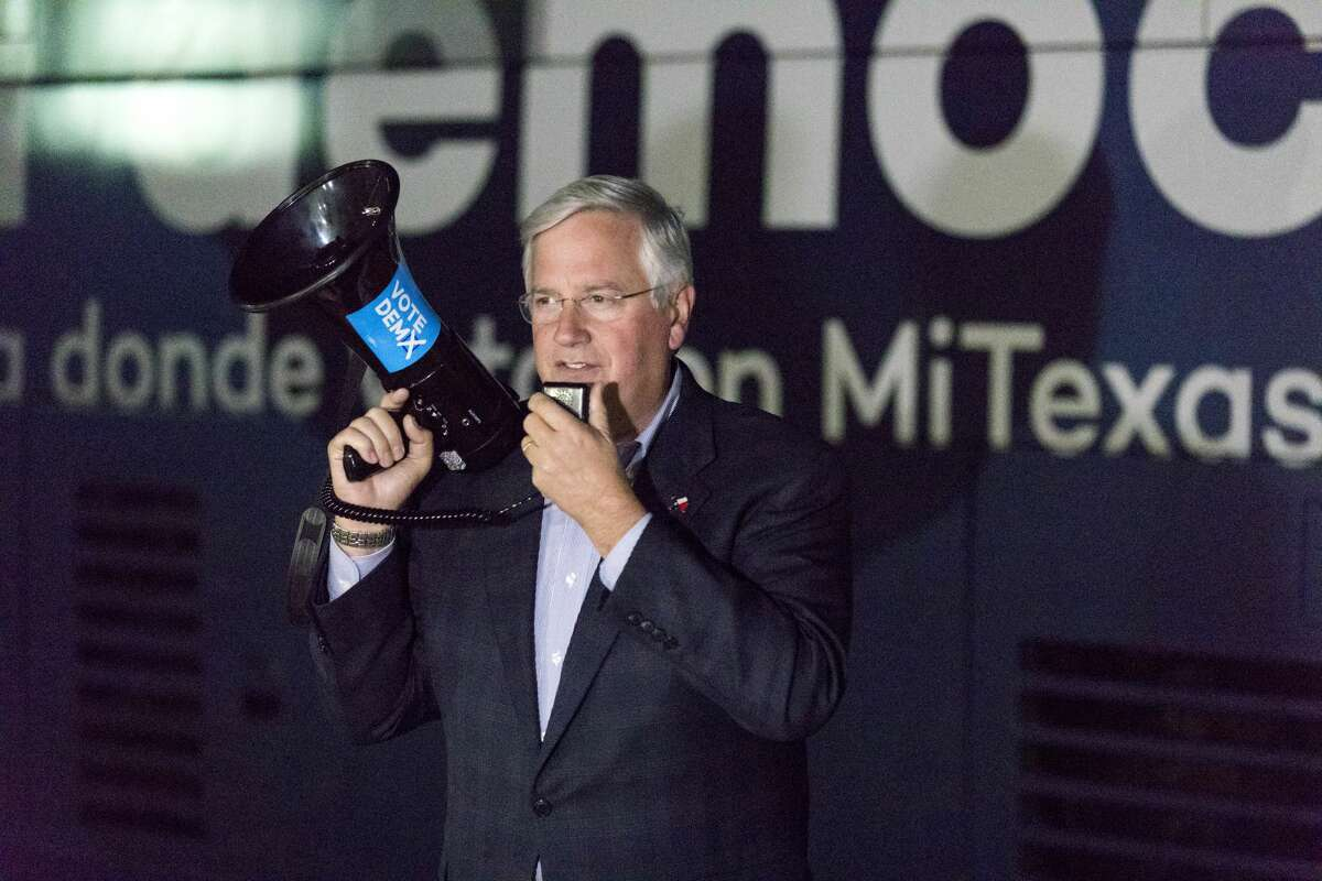 FILE PHOTO: Mike Collier, an accountant and the 2018 Democratic nominee for lieutenant governor, announced Monday that he was launching an exploratory campaign to gauge interest in another run.
