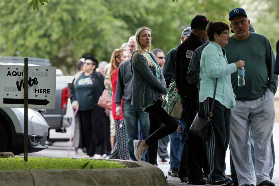 Polling sites ban cell phone use these days — and people have not been happy about it, according to Bexar County Elections Administrator Jacque Callanen.  Click ahead to view what not to do at voting locations in Texas. Photo: Jerry Lara /Staff File Photo / © 2018 San Antonio Express-News